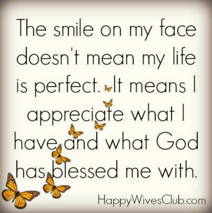 Smile Because Im Blessed Truth Pinterest Quotes God