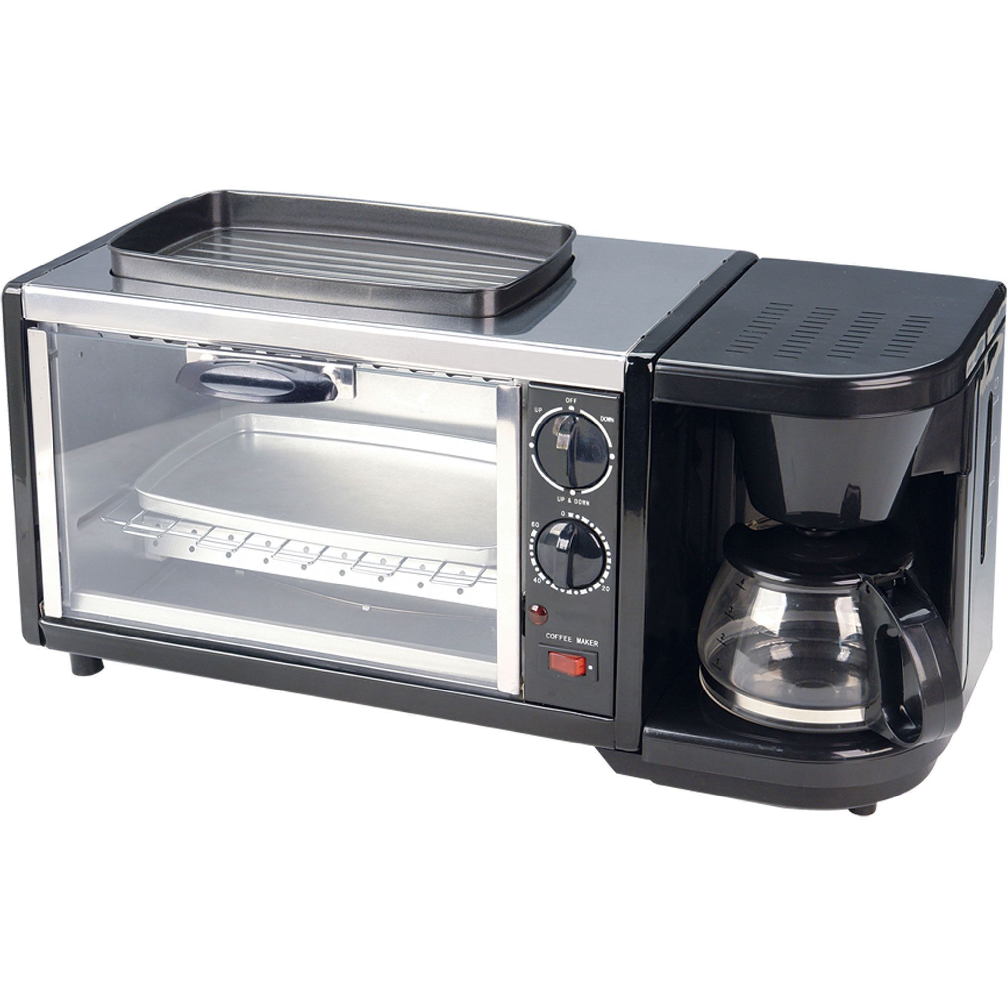 Spt 3 In 1 Breakfast Maker Combines All The Necessities Into One Toaster Oven Coffee And Top Griddle This Is Perfect Compact