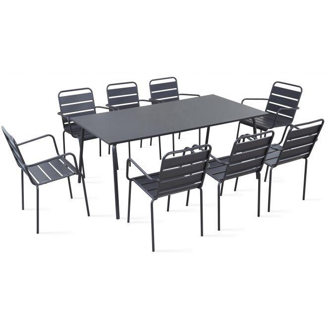 Table de jardin et 8 fauteuils en métal | terrace in 2019 ...