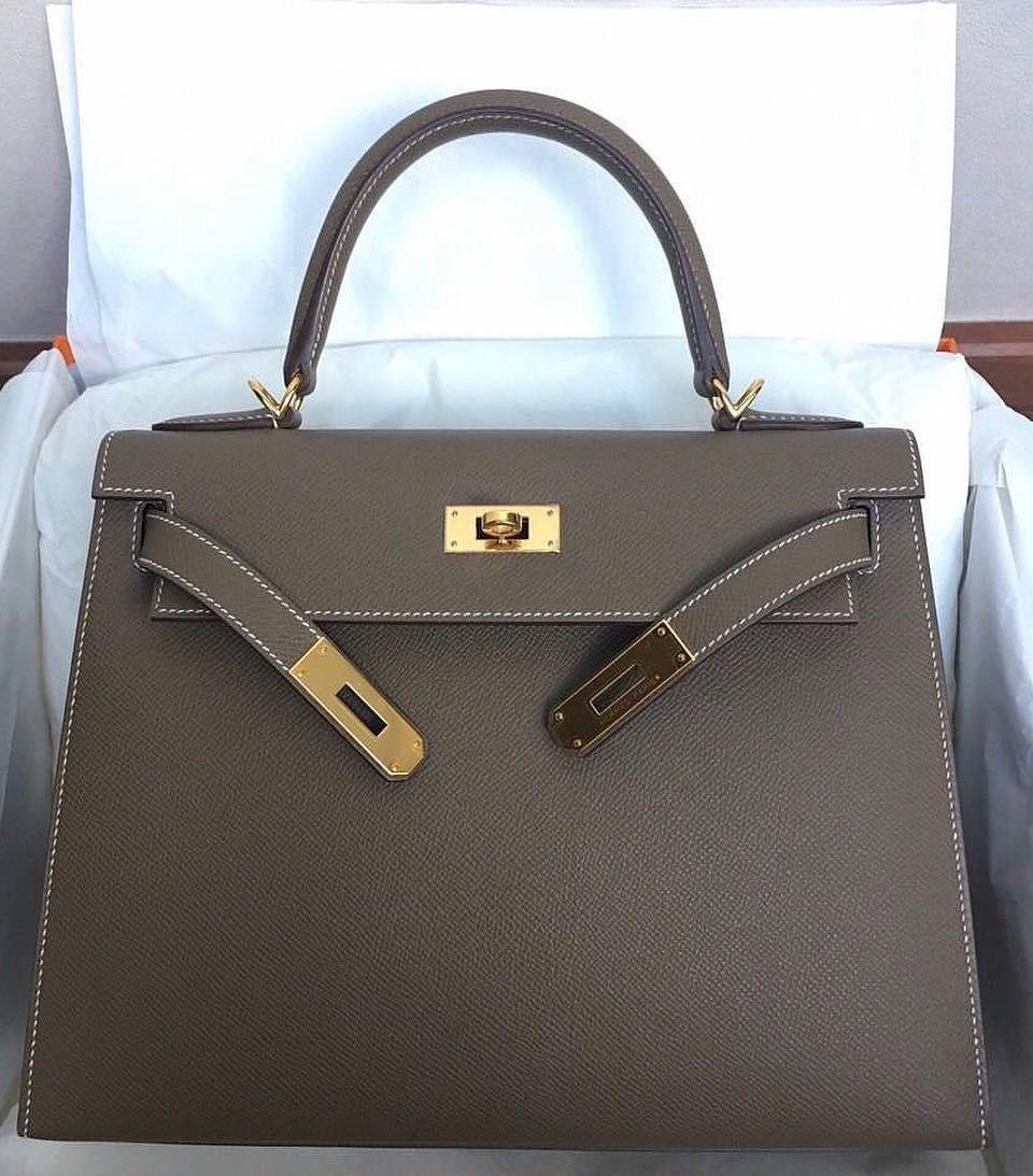 d247e37108ea1 Hermes Kelly 28 Etoupe Epsom Sellier Ghw T  Designerhandbags ...