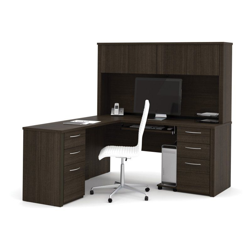 Bestar Embassy L Shaped Workstation With Hutch In 2018 Products