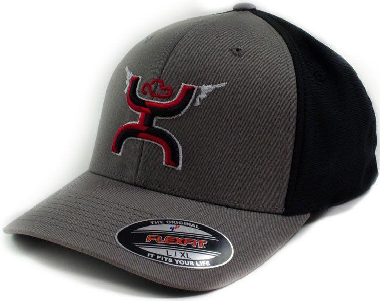 HOOey Hat Men's Gunner Flexfit Baseball Cap 1007GYBK