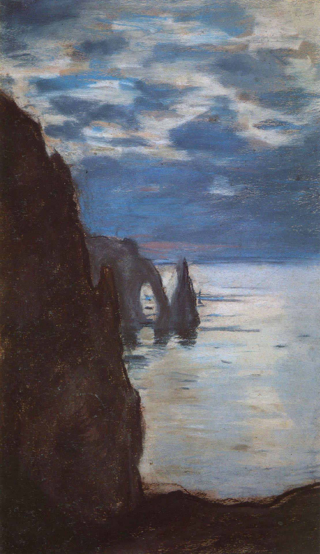CLAUDE MONET Etretat, the Needle Rock and porte d'Aval, 1885