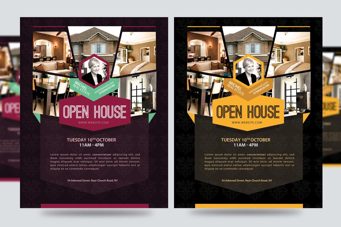 open house promotion flyer v1 flyers 1 real estate marketing templates pinterest open. Black Bedroom Furniture Sets. Home Design Ideas