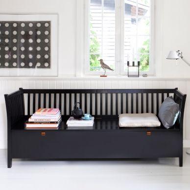 Truhenbank schwarz weiß  Oliver Furniture große Truhenbank mit Sprossen Schwarz gefunden bei ...