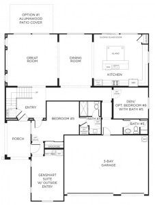 Pardee homes 39 gensmart suite offers a private entrance and for House plans with separate office entrance