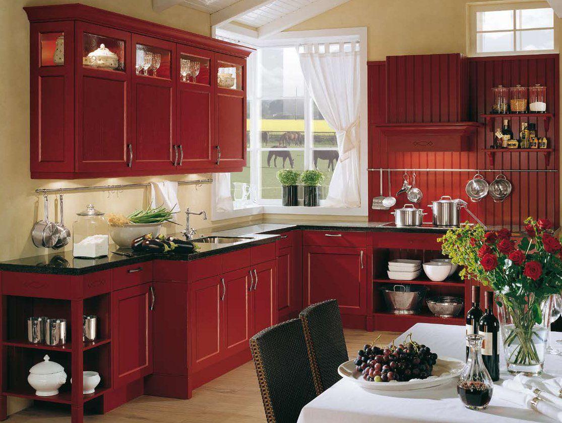 Küchendesign schwarz und rot küche foto hd  hledat googlem  picobelloshop  pinterest