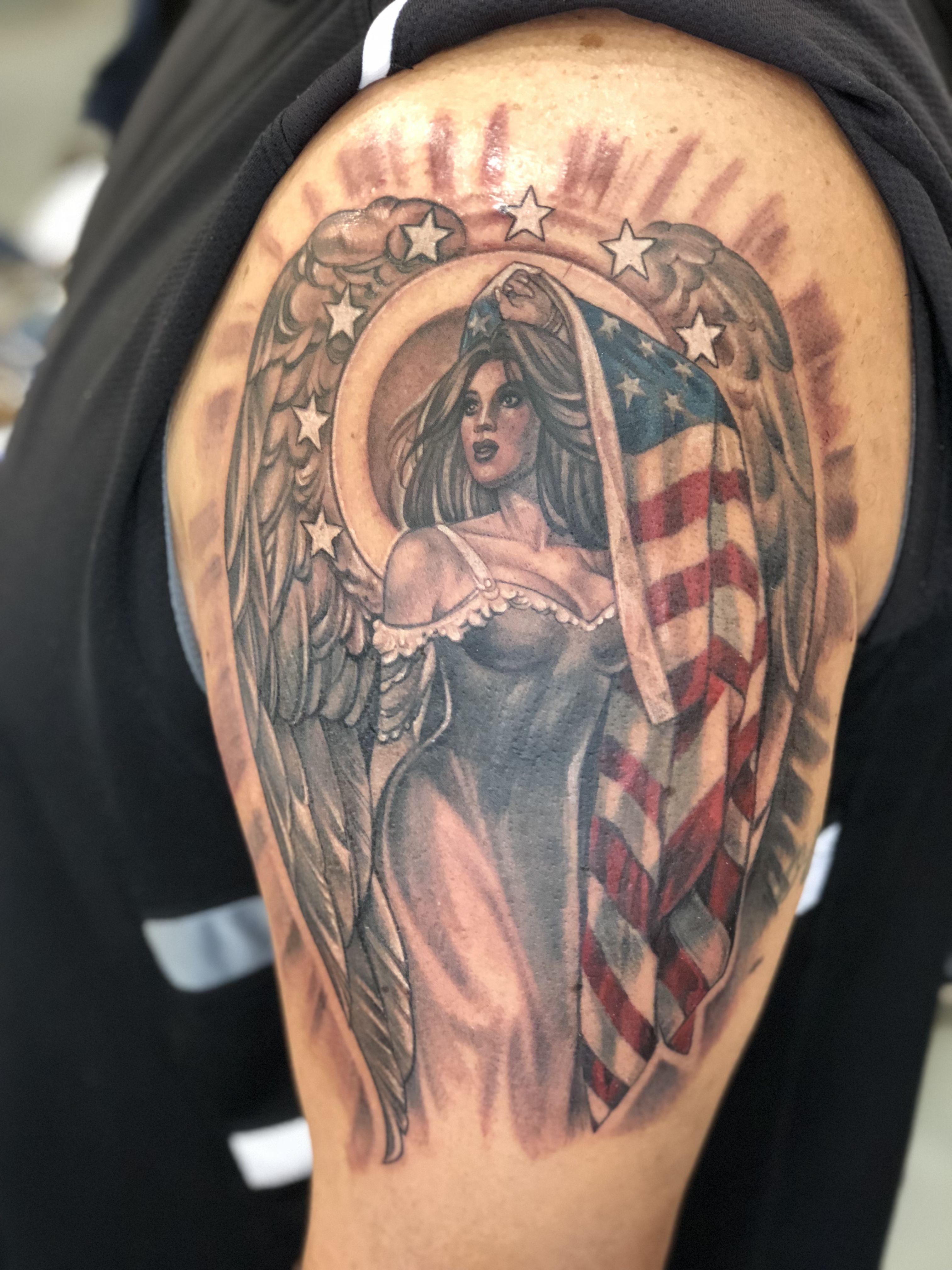 American angel by artist latisha wood of southern