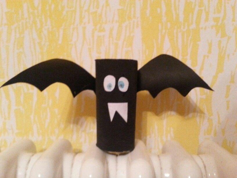 Pipistrello Con Rotolo Di Carta Igienica Fatti Da Me