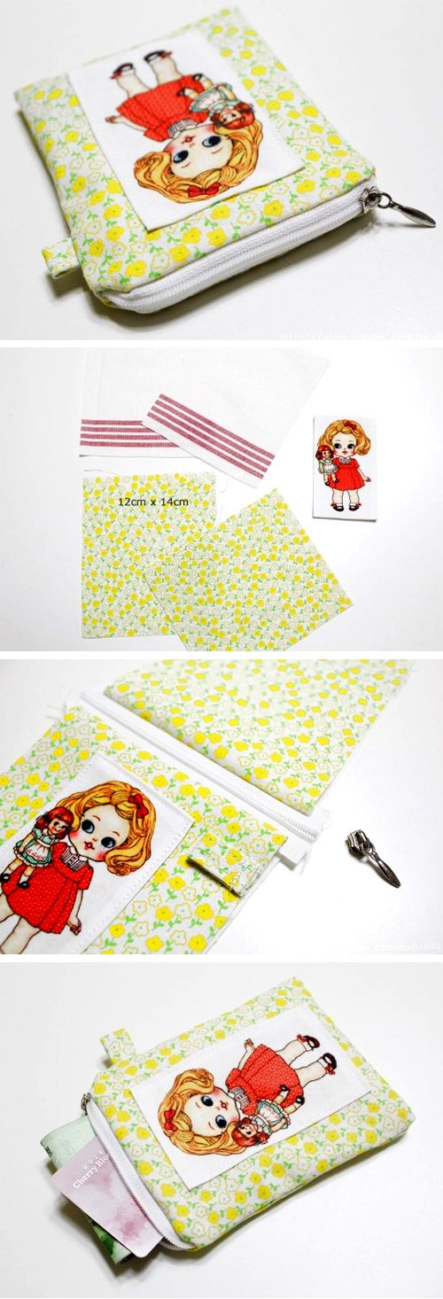 Zipper Card Pouch DIY | Free Bag Sewing Patterns ...