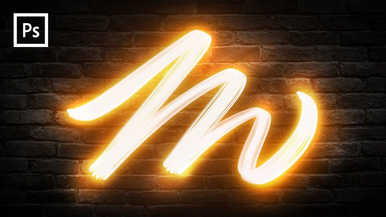 Photoshop Tutorials - Light Painting Text Effect - YouTube