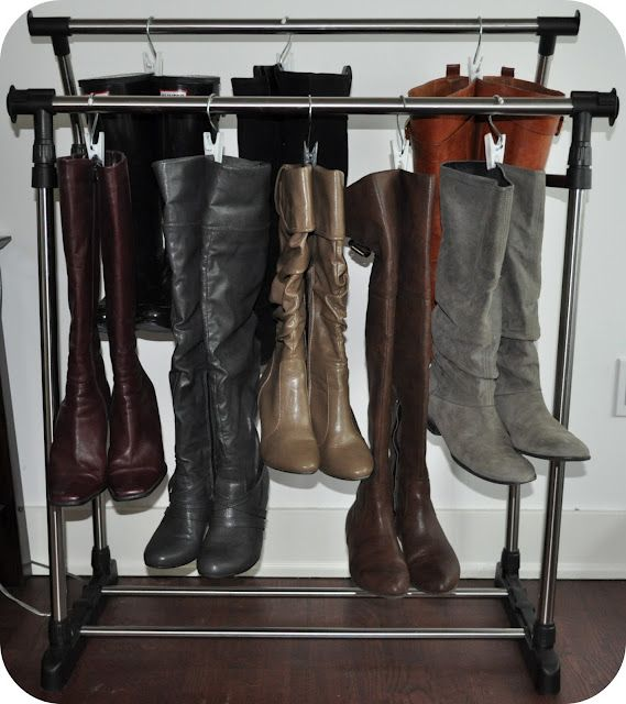 Boot Organization On A Cheap Drying Rack Boot