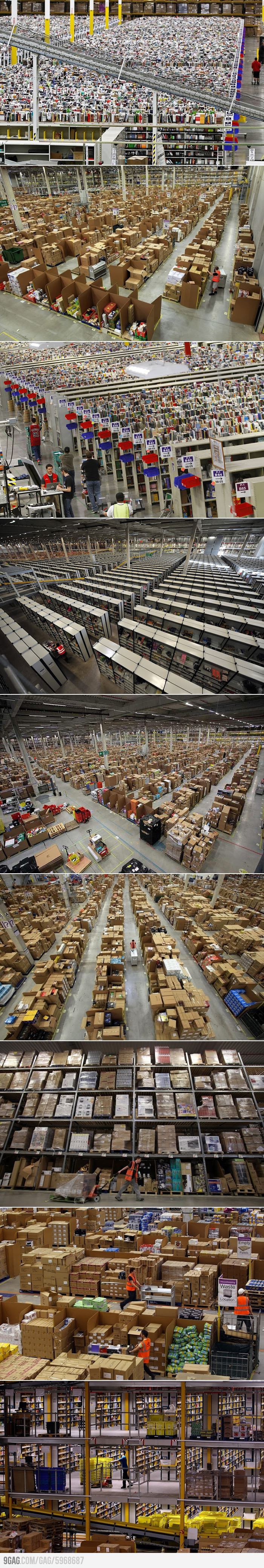 This Is What It Looks Like Inside An Amazon Warehouse Best Funny