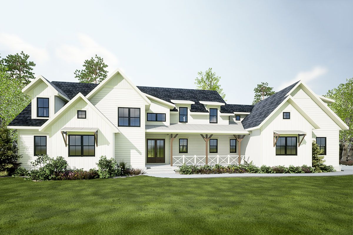 Plan 275004CMM: Exclusive 5-Bed New American House Plan ...