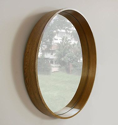 Very Large Round Wall Mirror 80 Cm Diameter Wooden Circle Large Round Wall Mirror Round Wall Mirror Mirror