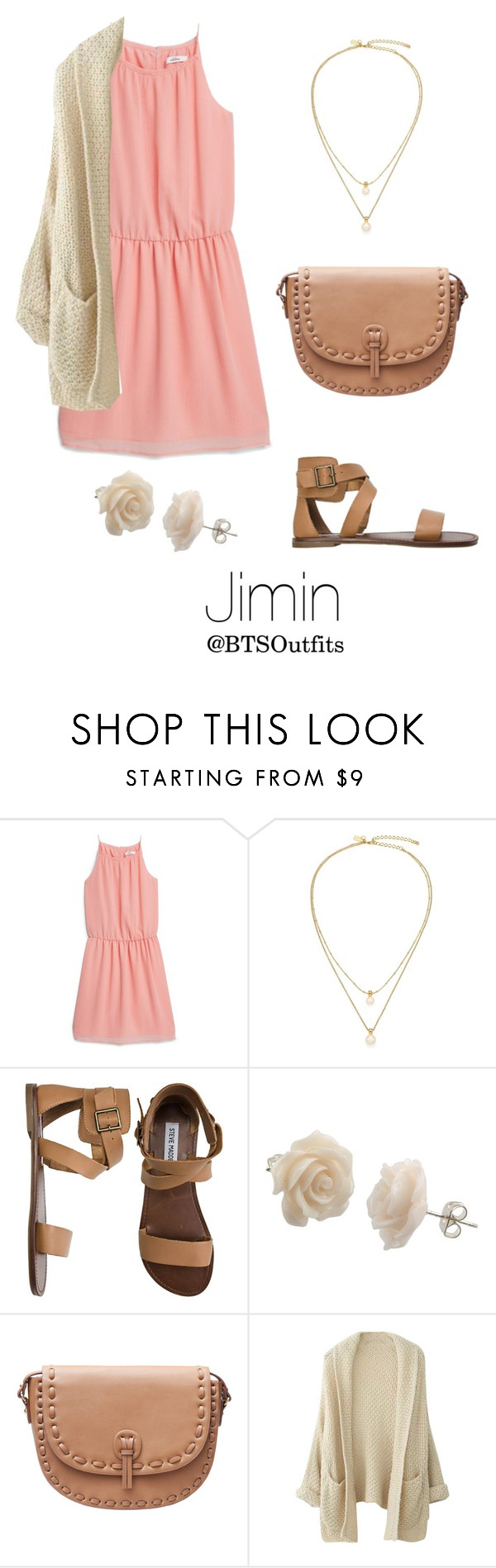 """""""Church with Jimin"""" by btsoutfits ❤ liked on Polyvore featuring MANGO, Kate Spade and Steve Madden"""