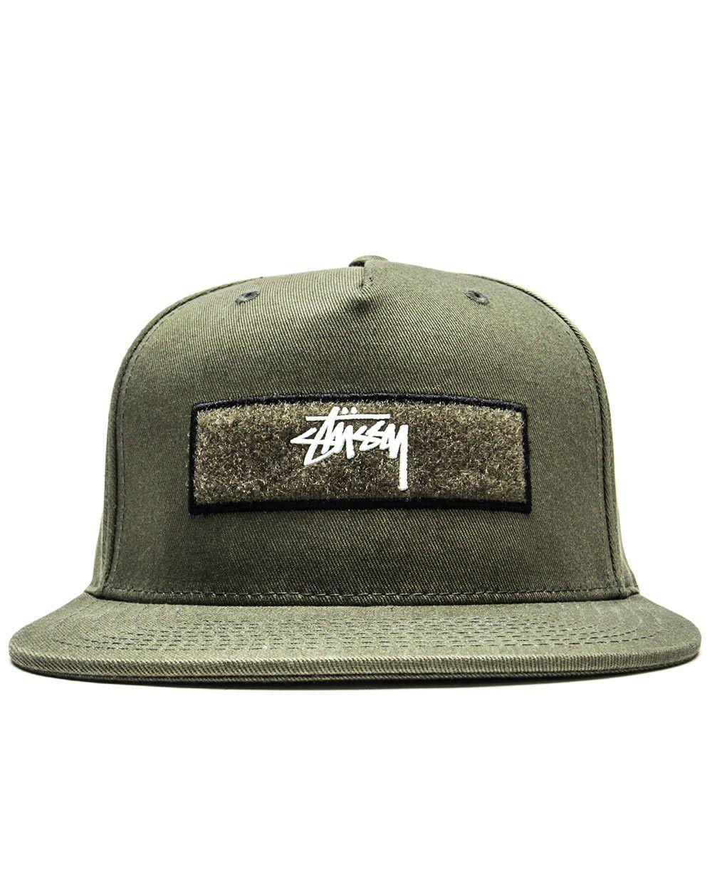 925afdb5f9c Stussy - Velcro Patches Strapback Cap (Olive) - Attic - 1 ...