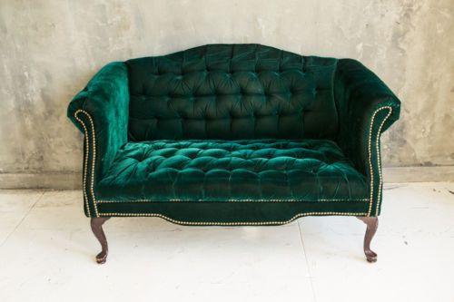 elegant green velvet loveseat sofa in 2019 home decor loveseat sofa victorian furniture