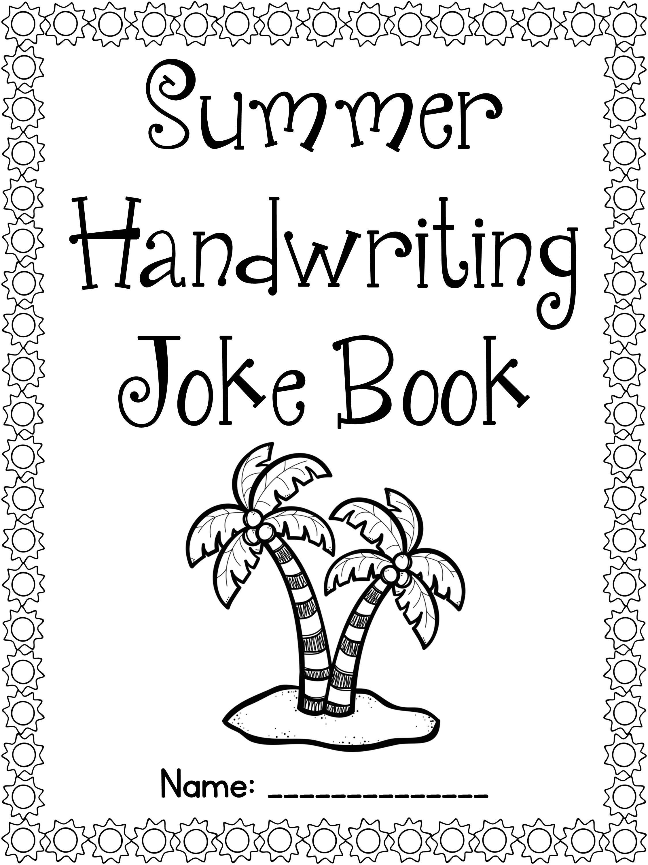 Free Summer Handwriting Joke Book Cursive Amp Print Versions Included