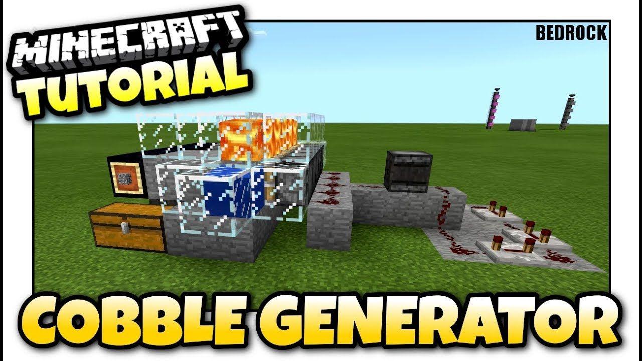 Minecraft cobblestone generator redstone tutorial