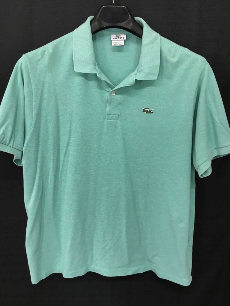 MENS XL SIZE 8 LACOSTE POLO SHIRT ALLIGATOR GREENISH-BLUE CASUAL SHORT-SLEEVE #Lacoste #PoloRugby