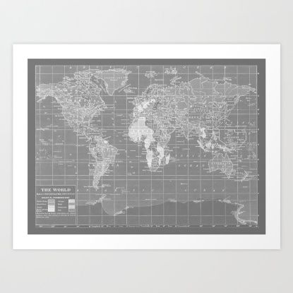 World map art print by color and form society6 creative black and white vintage world map rug by catherine holcombe gumiabroncs Images