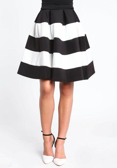 striped a line midi skirt $44 | Clothes | Pinterest | Shoes, A ...