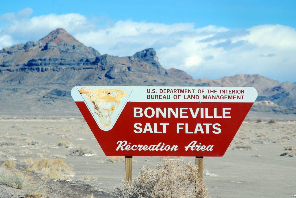 Bonneville Salt Flats Sign | Imagine a place so flat you see… | Flickr