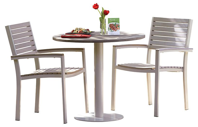Mission 3-Pc Bistro Table Set - Oxford Garden