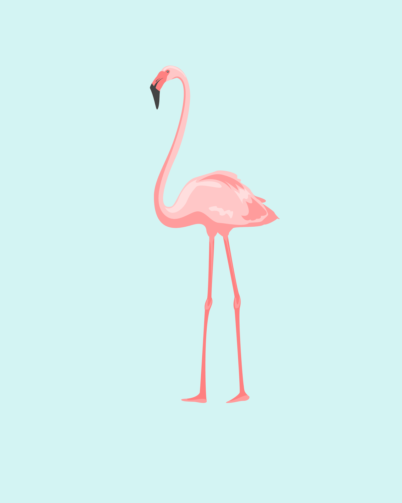 Oh So Lovely PRETTY IN PINK FLAMINGOS FREE PRINTABLES