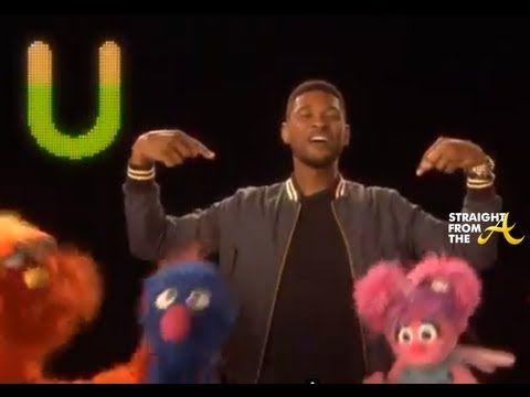 Usher Teaches Abc Song On Sesame Street Music For Kids Fun Brain Abc Songs