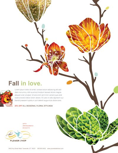 cute use of images and illustration Colourful Layout Pinterest - flyer outline