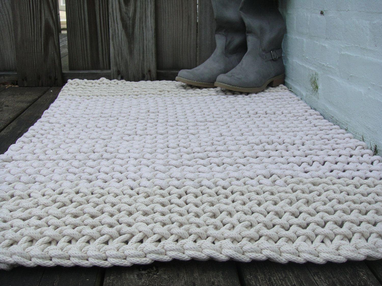 Slip Stitch Co Hand Knit Cotton Rope Rug L Crafty