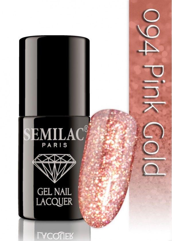 Semilac 094 Pink Gold UV&LED Nagellack. Auch ohne Nagelstudio bis zu 3 WOCHEN perfekte Nägel!