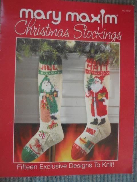 MARY MAXIM CHRISTMAS STOCKINGS to Knit 15 Designs #MaryMaxim
