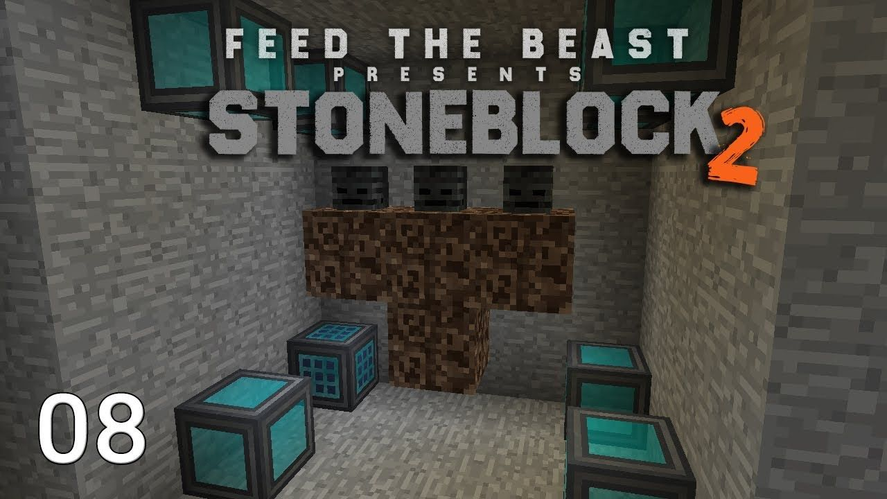 FTB Stoneblock 2 Mob Farm Wither Automation | SystemCollapse