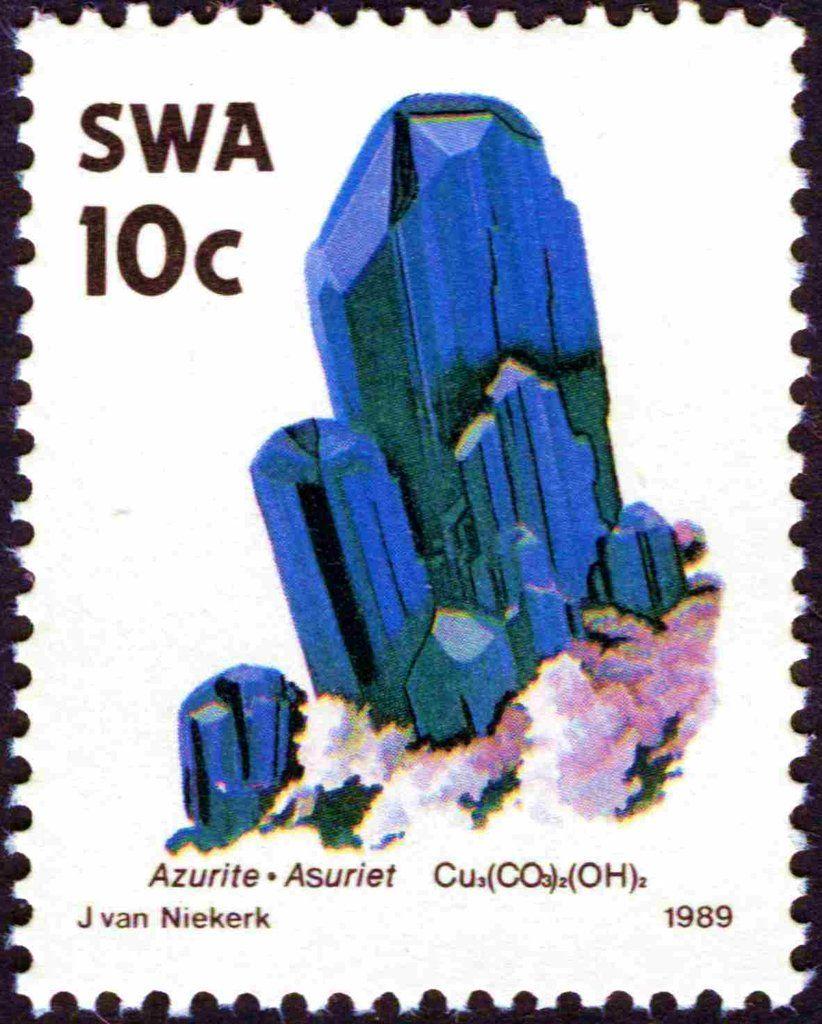 Stamp Asuriet South West Africa Minerals Mi Na Sw 653 Sn Na Sw 630 Yt Na Sw 610 Perangko