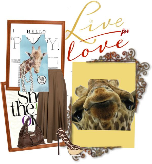 """""""Dressed Up Giraffe"""" by queenranya ❤ liked on Polyvore"""
