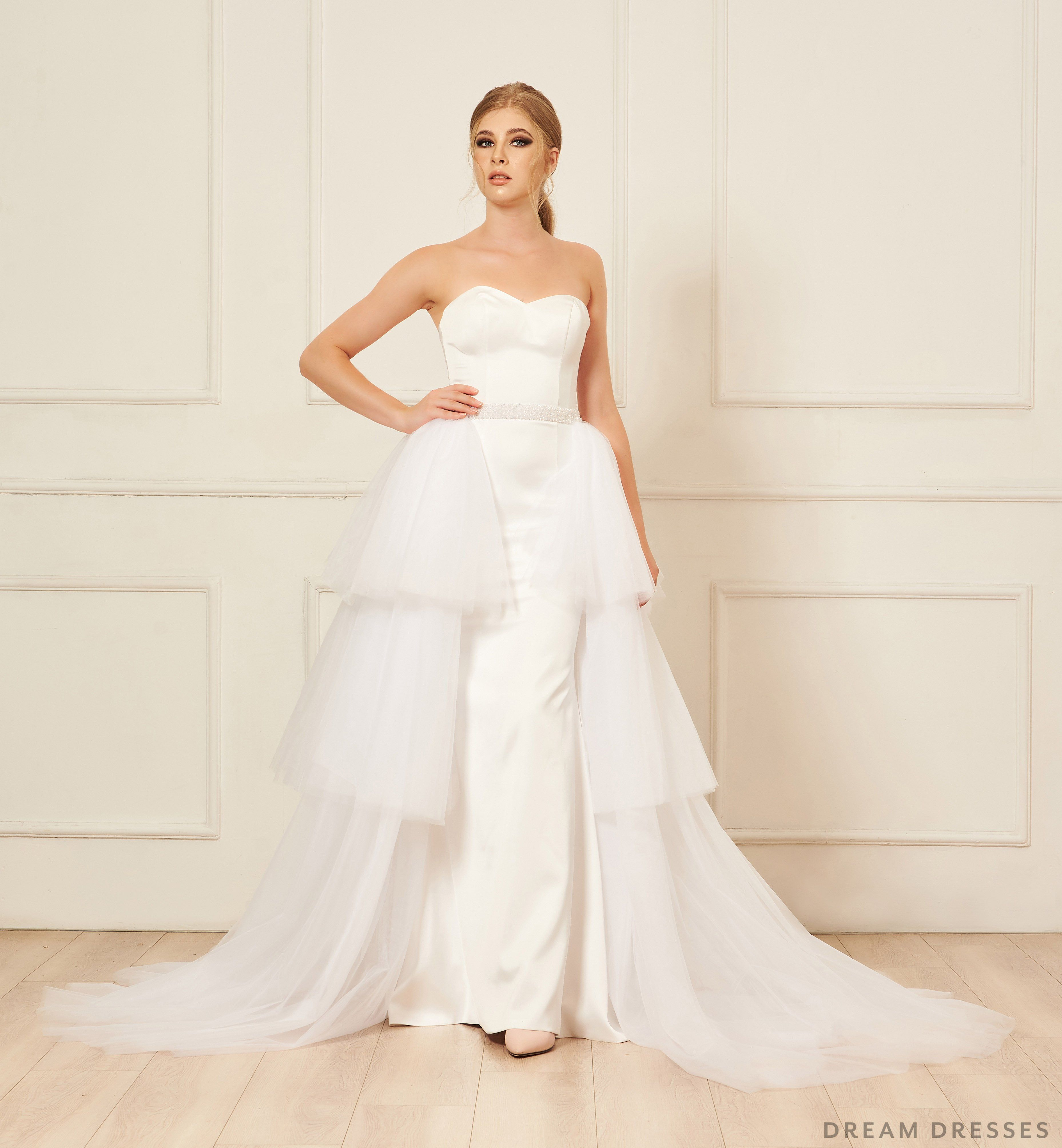 Removable Tiered Overskirt Dream Dresses by P.M.N