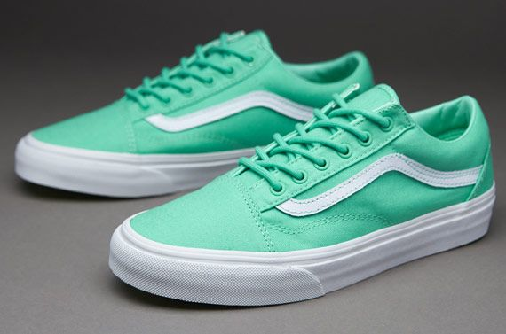 94e6a20892ee Vans Womens Old Skool - Biscay Green   True White
