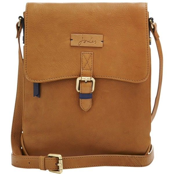 Joules Laverton Leather Across Body Bag , Tan ($130) ❤ liked on ...