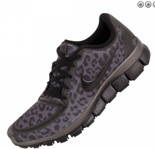 f5f3e9ac8810 Womens Nike Free 5.0 V4 Leopard Running Black Shoes