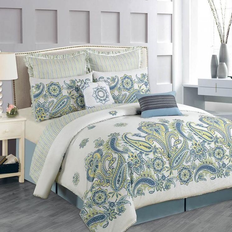 Paisley Cotton 8 Piece Comforter Set Inspiring Ideas