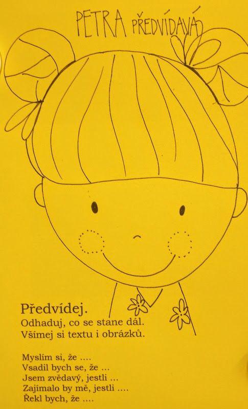 Petra Předvídavá - karta k rozvoji čtenářské dovednosti