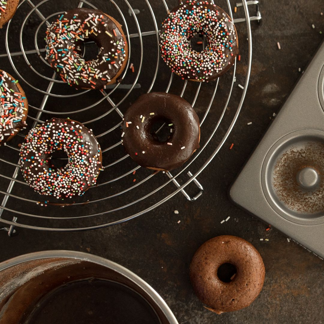 Vegane Schoko Bananen Donuts Aus Der Donutform Rezept Rezepte