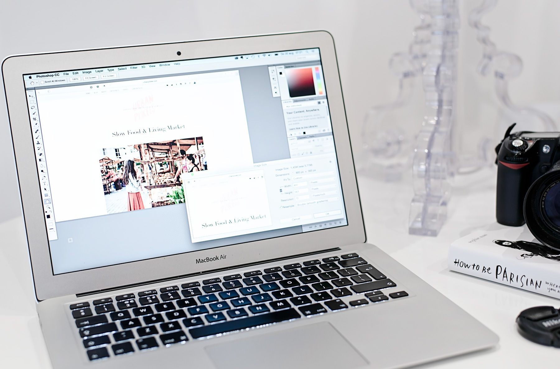 How to resize your blog photos with Photoshop and keep them super sharp.