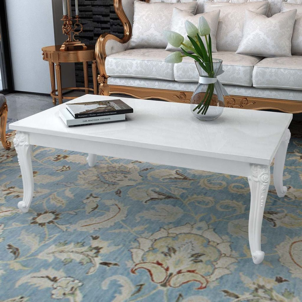 French Curved Legs Coffee Table Coffee Table Chic Coffee Table Coffee Table White