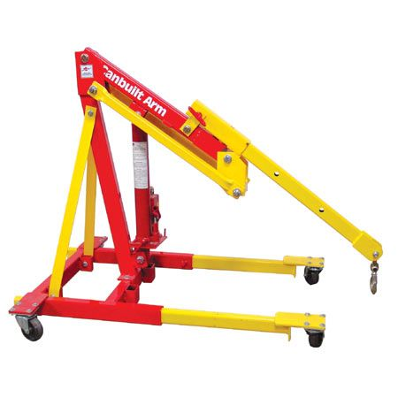the canbuilt arm u003cbr u003edual air manual operated engine crane lifting rh pinterest com Small Portable Cranes Small Jib Crane