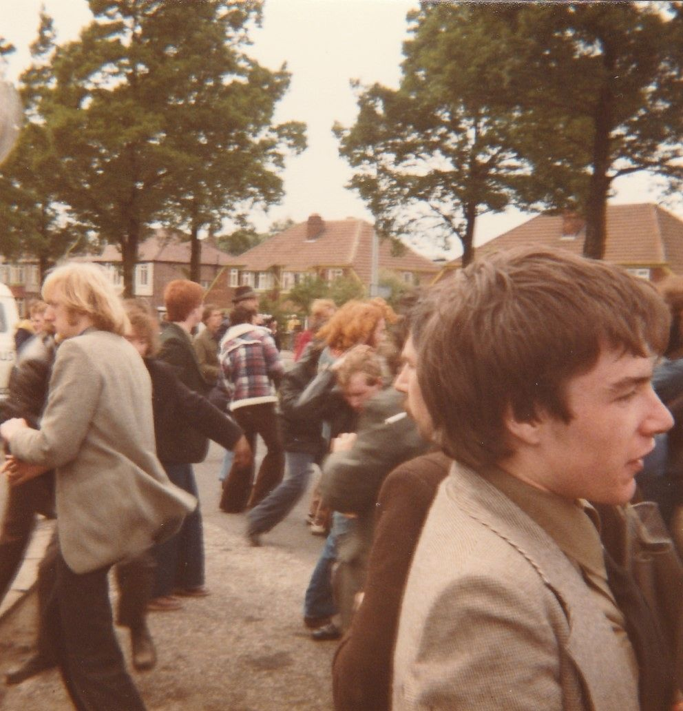 It gets violent! Moss Side By Election, May 1978. The meeting attacked by Reds but said attack repulsed with casualties.