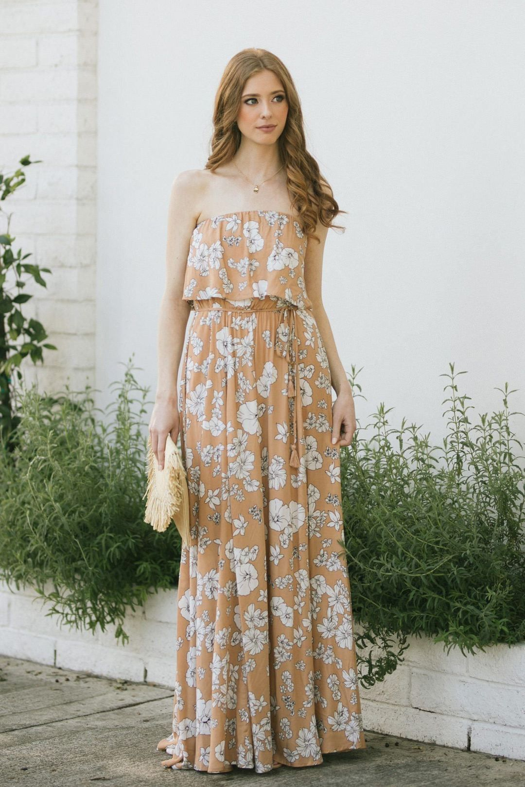 Shop The Clarisse Floral Strapless Maxi Dress Boutique Clothing Featuring Fresh Feminine And Affordable Styles Dresses Maxi Dress Strapless Maxi Dress [ 1620 x 1080 Pixel ]